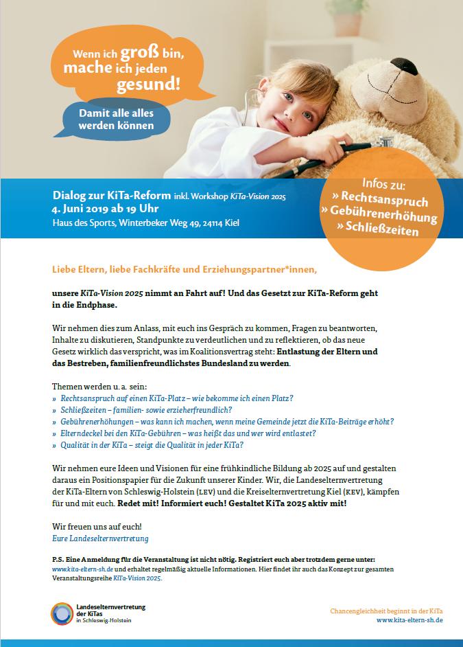 Einladung zur KiTa-Reform in Kiel